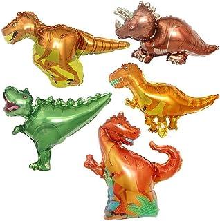 ED-Lumos 5Pcs Mini Dinosaurs Reusable Helium Balloons for Birthday Party Decoration Kids Gift
