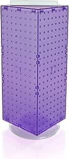 Azar 703385-PUR Interlocking Pegboard Display, 8-Inch by 8-Inch by 20-Inch, Purple