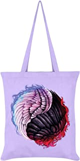 Unorthodox Collective Angelic Devil Yin Yang Tote Bag Lilac 38 x 42cm