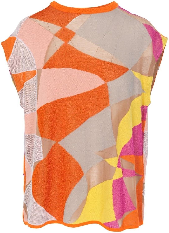M Missoni Top Women's orange Slim Fit Cotton Casual 44 IT