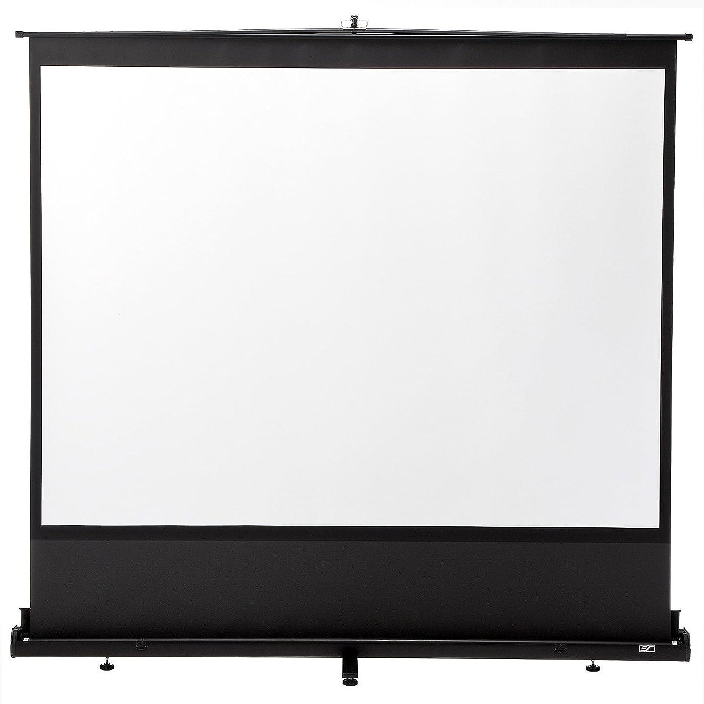 市の花放出スロープイーサプライ プロジェクタースクリーン 100インチ 自立式床置き型 ロールスクリーン EEZ-PRS009