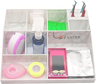 JINGLING Beauty Organizer voor wimpers, grote capaciteit, opbergdoos, valse wimperverlenging, draagbox, acryl, cosmetica-o...