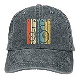 ONGH Bicicleta de Estilo Vintage Silueta Unisex Gorras de béisbol Ajustables Sombreros de Mezclilla Vaquero Deporte al Aire Libre