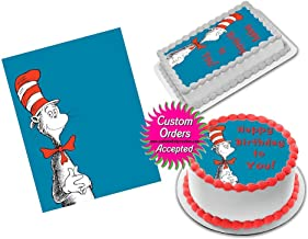 Cat in the Hat Dr Seuss Edible Image Icing Frosting Sheet #12 Cake Cupcake Cookie Topper Sugar Sheet (8