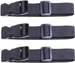 TENDYCOCO 3 peças de tiras de bagagem ajustáveis com fivela de liberação rápida para cinto de mala de viagem acessórios de...