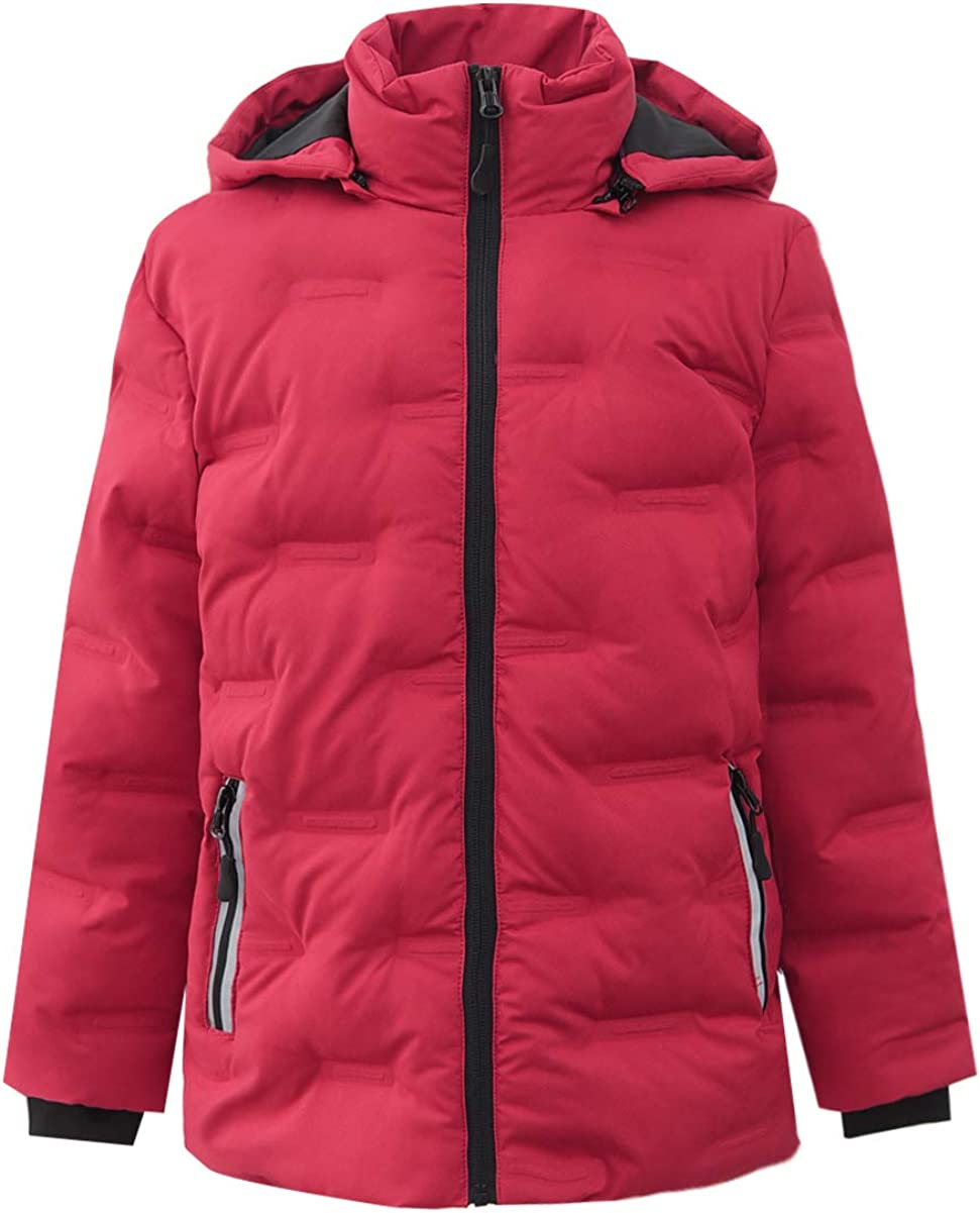 Hiheart Boys Girls Stitch-Free Hooded Ja Puffer Insulated Mail order cheap OFFer Winter