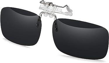AoHeng Polarized Flip Clip On Sunglasses Over Glasses for Men Women UV Protection