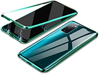 MOONCASE Galaxy S20 FE Case, 360° Full Body Magnetic Adsorption Metal Frame Flip 9H Tempered Glass [Front and Back] Full S...