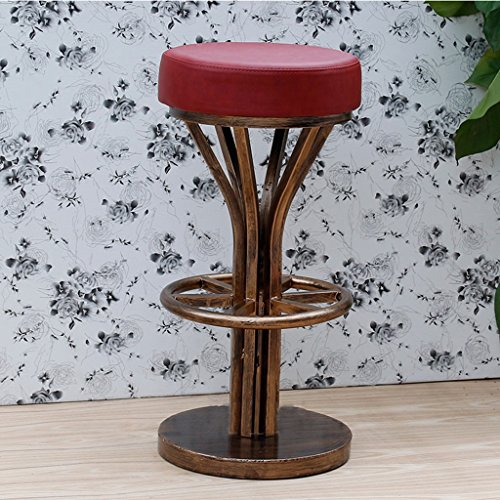 LYYHUAJIA Sgabelli Alti creativi, sedie caffè Retro Bar in Acciaio Inox sedie Occidentali sgabelli da Bar sedie (36,5 * 36,5 * 75 cm) (Color : C)