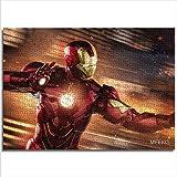 mmkow Puzzle Set 1000 Piezas Película Iron Man Puzzle Juego Familiar 26x38