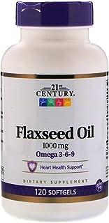 21st Century, Flaxseed Oil, 1000 Mg, 120 Softgels
