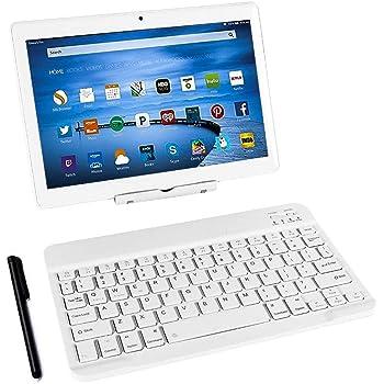 Tablet táctil de 10 Pulgadas, Tablet PC con Teclado (AZERTY ...