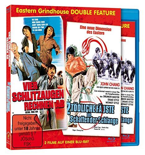 Vier Schlitzaugen rechnen ab / Zwei Tödliche Fäuste im Schatten der Schlange [Blu-ray]