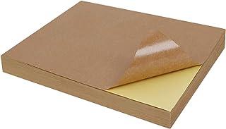 100 Hojas, DIN A4, cart/ón Natural, 24 x 29,7 cm Color marr/ón Papel de estraza Tebery