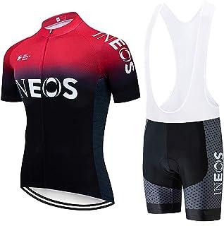 Tuta Ciclismo Completo Bici Uomo Estivo con Maglia e Pantaloncini Corti Imbottitipi/ù Colori)