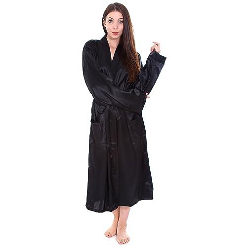 Simplicity Unisex Long Satin Kimono Robe Sleepwear f726d2dc4