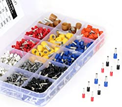 ELECFUN 1100pcs Wire Ferrule Connectors, 22-8 AWG Gauge Insulated Cord Pin End Terminal Kit