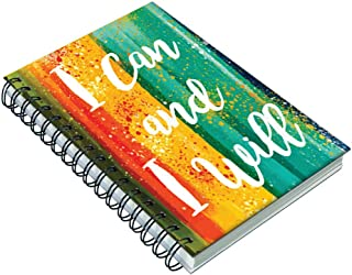 AccuPrints Hard wiro bound 6 by 9 inch 200 pages with 12 habit development pages Notebook Diary Note book or Journal for o...