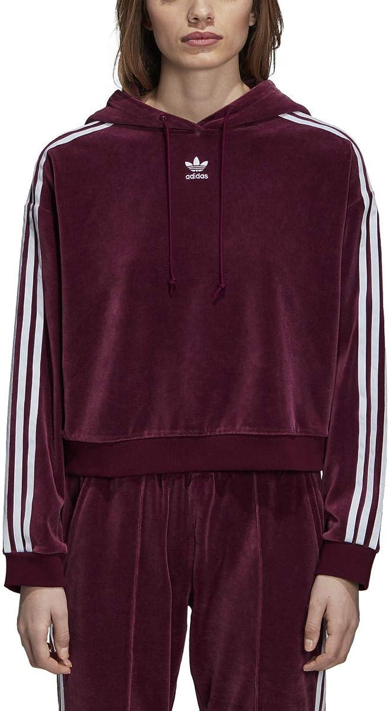 Adidas Women's Originals 3Stripes Trefoil Cropped Hoodie
