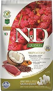 Farmina - Natural & Delicious Quinoa Skin & Coat Duck Dry Dog Food, 5.5lbs
