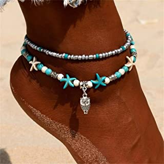Anklet Beads Starfish Anklets For Women 2018 Fashion Vintage Handmade Sandal Owl Bracelet Foot Boho Jewelry