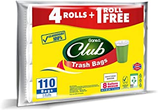 Sanita Trash Bags Club, 8 Gallons, 110 Bags, OXO Biodegradable