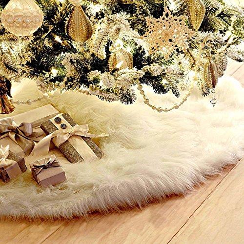 THEE weiß Plüsch Weihnachtsbaum Rock Weihnachtsbaum Boden Dekoration Weihnachtsdekorationen Baumschmuck