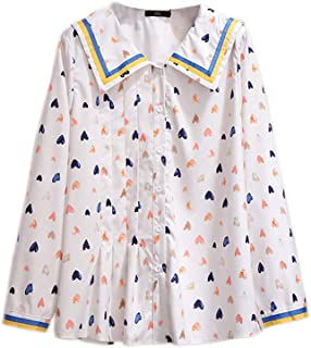 Spring And Autumn Large Size Shirt Printed Long-Sleeved Chiffon Shirt Ladies Jacket Casual Jacket Ladies Long Shirt