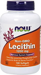 Now Foods, Lecithin 1200Mg Softgels, 100 Count