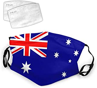 Australia Flag Australian National Flags Washable Mouth Filter Reusable Cotton Face for Adults Women Men Protect