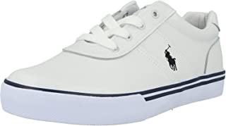 Polo Ralph Lauren Hanford Navy/White Leather Youth Trainers Shoes