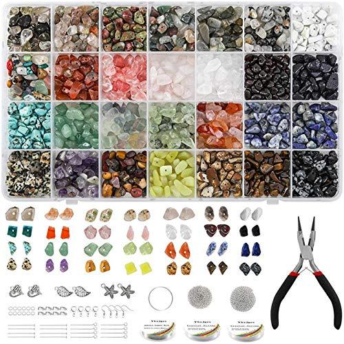 Chytaii - Kit de herramientas para hacer joyas, 28 colores, bricolaje, pendientes, kit AVCE