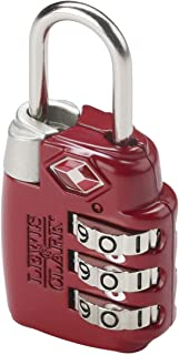 Lewis N. Clark TSA 3 Dial Combination Lock, Red
