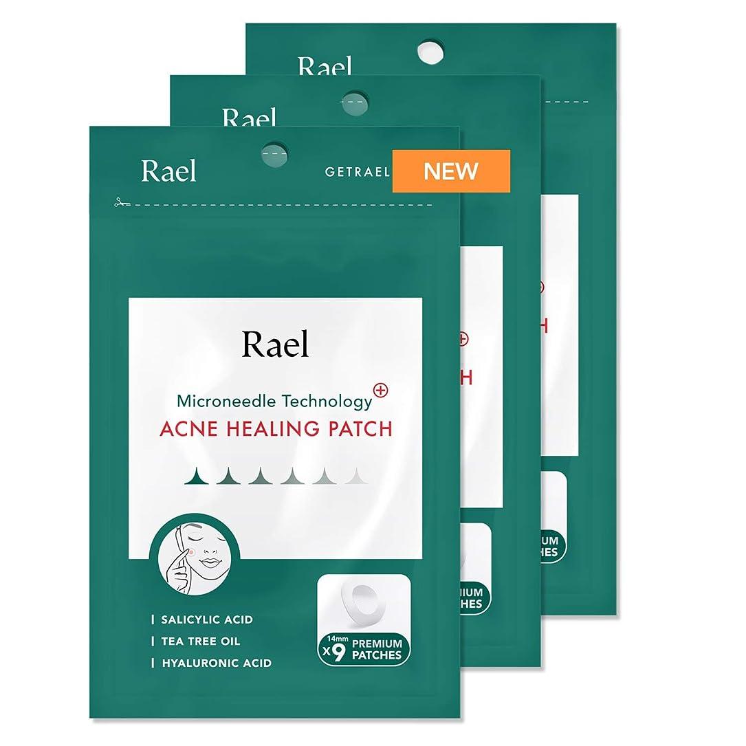 極地幸運治すRael Microneedle テクノロジー アクネヒーリングスポットパッチ (クイック鎮静効果,ニキビ傷治療) 14mm, 9個入 x 3 (27個)