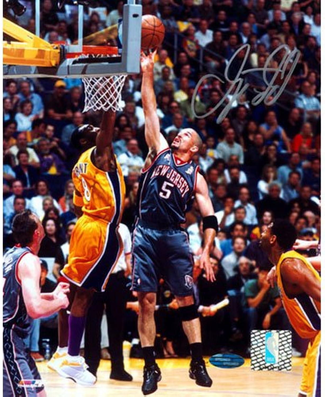 NBA Jason Kidd Nets Grey Jersey LayUp Vs. Kobe Autographed 8 x 10Inch Photograph