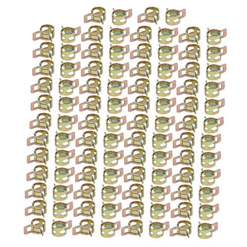 sourcing map 100 Stück 8mm Bronze Feder Schlauchschelle Federbandschelle Schlauch Klemme DE de