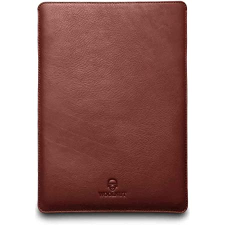 Woolnut Leather & Wool Sleeve Case Cover, for MacBook Pro 13 & Air 13 inch (New model) - Cognac (WNUT-MBP13-S-119-CB)