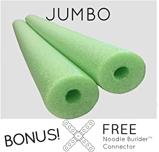 2 Pack Oodles Monster 55 Inch x 3.5 Inch Jumbo Swimming Pool Noodle Foam Multi-Purpose