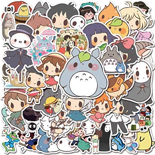 YIZIZ Studio Ghibli Stickers| 50 Pcs | Hayao Miyazaki Anime Stickers| Vinyl Waterproof Stickers for Laptop,Phone,Computer,Phone,Car,Skateboard, Hydro Flask,Water Bottles(Studio Ghibli Film-50)