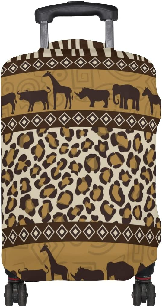 Cooper girl Wild Animals And Skin Travel Luggage Cover Suitcase Protector Fits 23-26 Inch