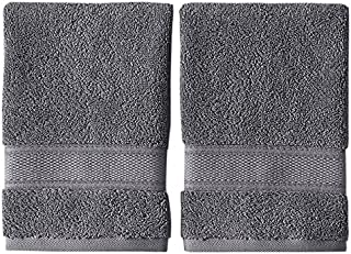 Grund Pinehurst Bath Towels, Hand Twin Pack, Slate Gray