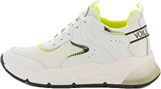 VOILE BLANCHE Sneakers Donna 1N40 Jennie Bianco Giallo Flu Pelle