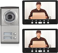 Videodeurbel, Intercom, Bekabeld Deurinvoersysteem, 7 Inch Videodeurtelefoon Voor Huisbeveiliging, IR-Nachtzichtcamera + 2...