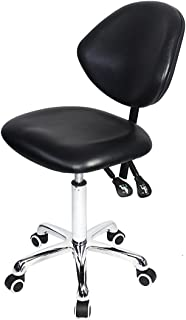 Grace & Grace Professional Office Series Height Adjustable with Ergonomic Tilting Backrest for Drafting,Computer,Studio,Workshop,Classroom, Lab, Counter (Classic, Black)