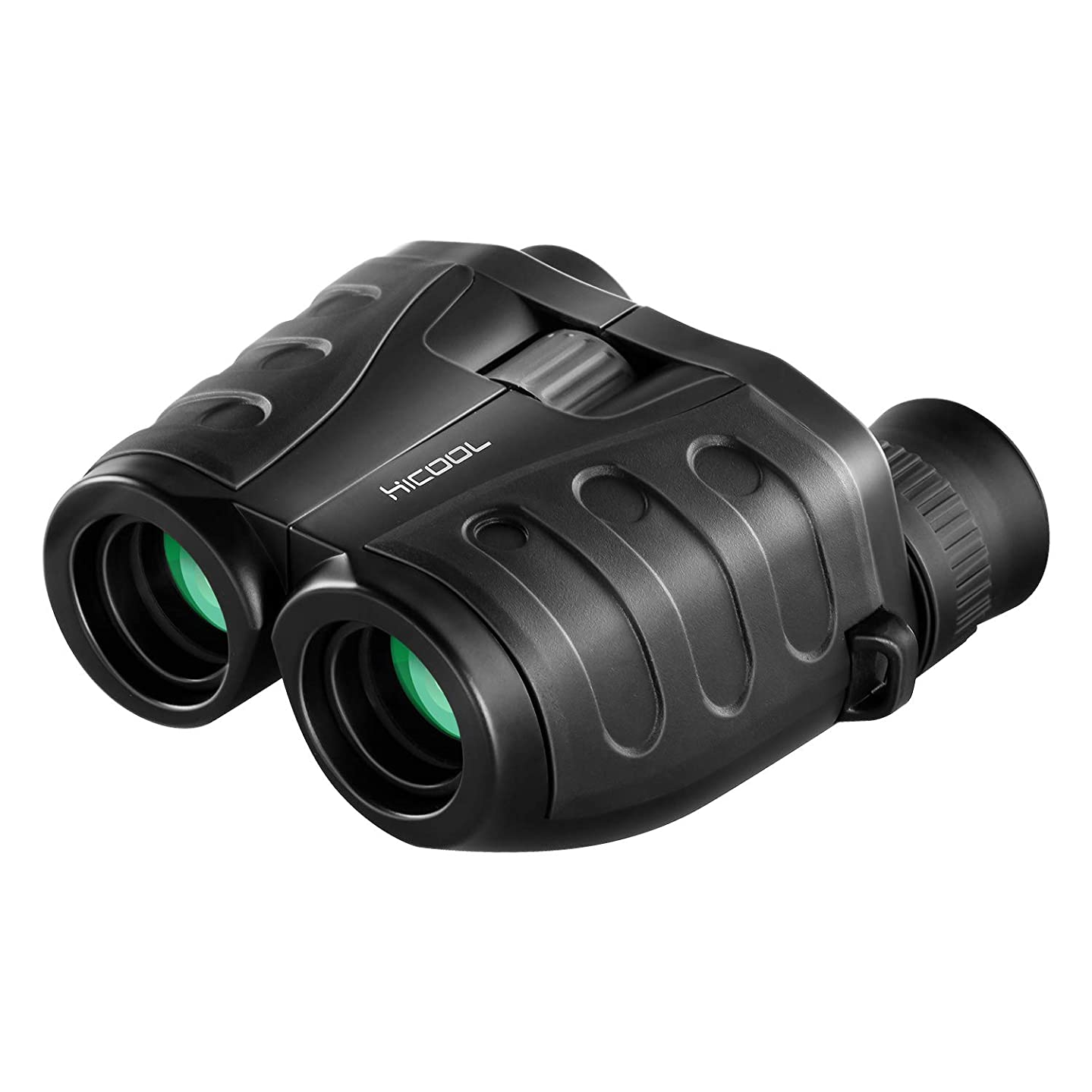 Compact Binoculars, 10x25 Folding High Powered Binoculars with Weak Light Night Vision Clear Bird Watching/Outdoor Sports Games/Concerts (Black)