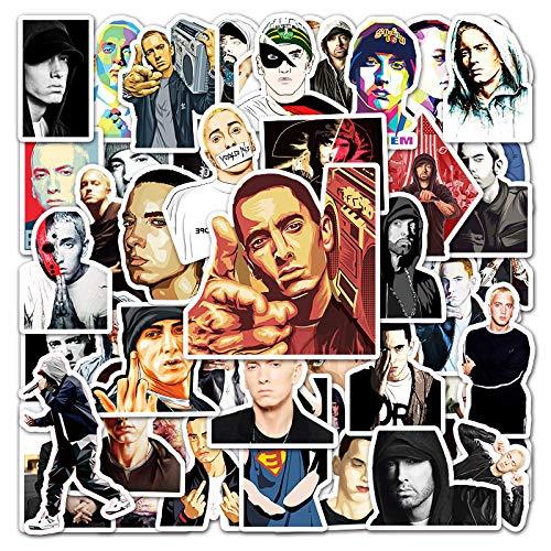 Rapper Eminem Graffiti Pegatina Equipaje Portátil Scooter Decoración Coche Pegatina 50PCS