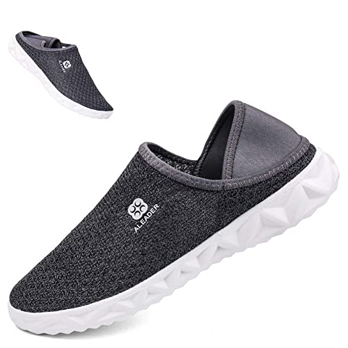 fbe2d432f6c302 ALEADER Mens Womens Breathable Summer Slip On Flat Loafers Lightweight  Multifunctional Moccasins Shoes for Garden Beach