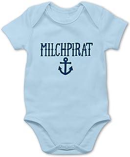 Shirtracer Up to Date Baby - Milchpirat - Baby Body Kurzarm für Jungen und Mädchen