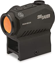 Sig Sauer Romeo5 1x20mm Compact 2 Moa Red Dot Sight, Black