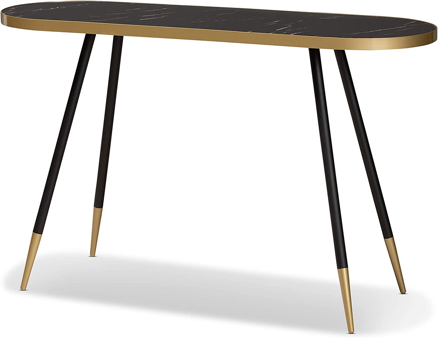 Max 70% OFF Baxton Studio Console Black Gold Tables Our shop most popular